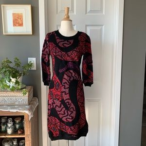 Vintage Missoni snake motif sweater dress